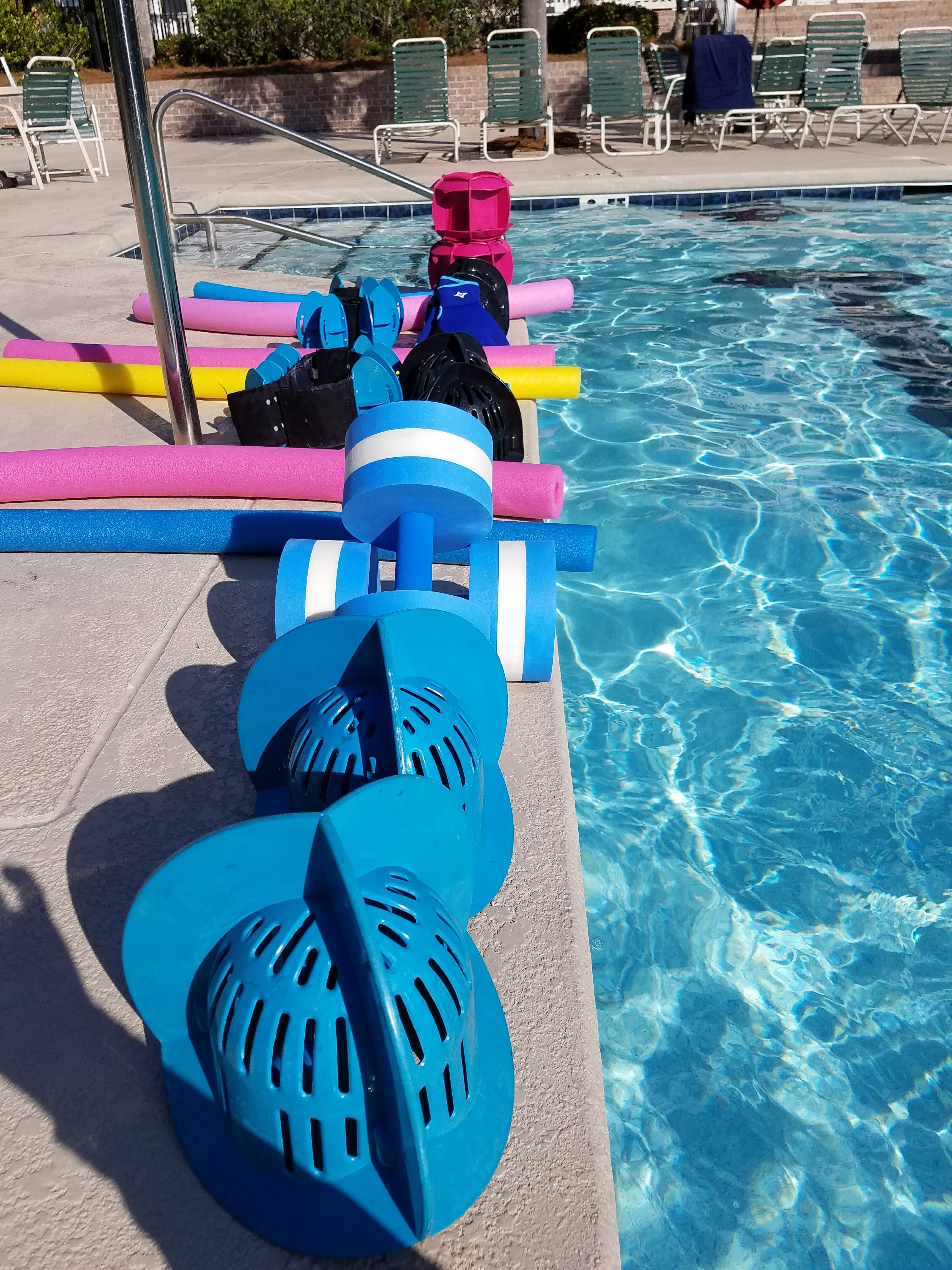 Karen donadio aqua instructor in mount pleasant sc cph often times when individuals are discharged from their physical therapy aqua aerobics therapy is an excellent transition in chest deep in water 1betcityfo Image collections